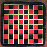 Game Checkers Pressman Metal Board 1960s