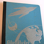 Vintage Silver Rocket 1930s School Notebook