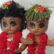 Lamp Hawaiian 1940s Hula Children Celluloid Tiki Kitsch