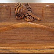 Jewelry Box Walnut Wood Rose