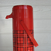 Aladdin Thermos Pump A Drink Plaid