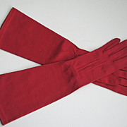 Vintage Gloves Wear Right Sz.7 Pink Opera