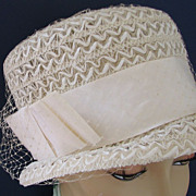 1960s Hat White Bucket