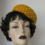 Hat Pillbox B.H.Wragge Mad Men Designer 1950s
