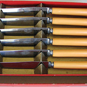 Knife Set Bakelite Kitchenware Marked Royal Brand Knives