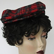 Hat Pendleton Newsboy Cap Plaid Red Medium