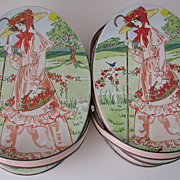 Tins Valleybrook Victorian Style Pink Lady