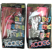 Barbie and the Rockers Dolls NRFB 1986 Set