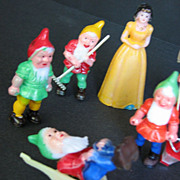 Snow White and Seven Dwarfs Cake Decorations 1960s