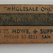 Advertising Ruler Calipers Watts San Antonio Wood