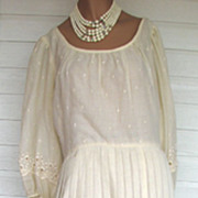 Dress Embroidered 1970s Herman Marcus Size 16