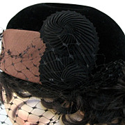 Hat Adele Claire Black Brown