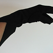 Gloves Lilly Dache Black Sculptured