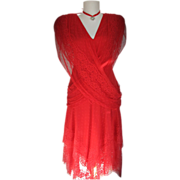 Dress Red Lace Disco Mermaid Penneys
