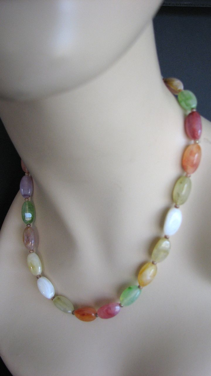 Necklace Easter Glass Beaded