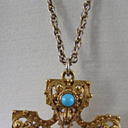 SOLD Vintage Necklace Maltese Cross