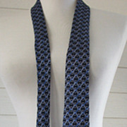 Hermes Necktie Blue Silk