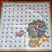 Scarf Morsly Lion Polka Dots Op Art 1960s
