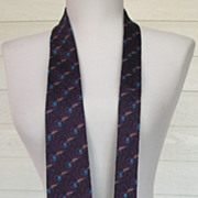 Vintage Necktie Fumagalli's Silk Mens