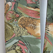 Vintage Necktie Peachick Beach Seashells