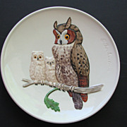 Goebel Owl Plate Mothers Day 1979
