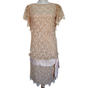 Dress Lillie Rubin Gatsby Flapper 1970s Lace Designer