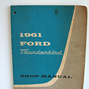 Ford Thunderbird 1961 Manual Service Book