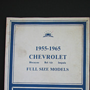 1955-1965 Chevrolet Shop Manual 1982 Auto Impala