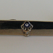 Vintage Elks Lodge Tie Bar and Cufflinks Set