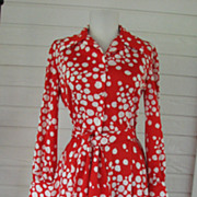 Dress Gail Gray 1970s Red White