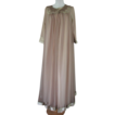 Gossard Artemis Peignoir Gown Set Mocha 1960s Mad Men