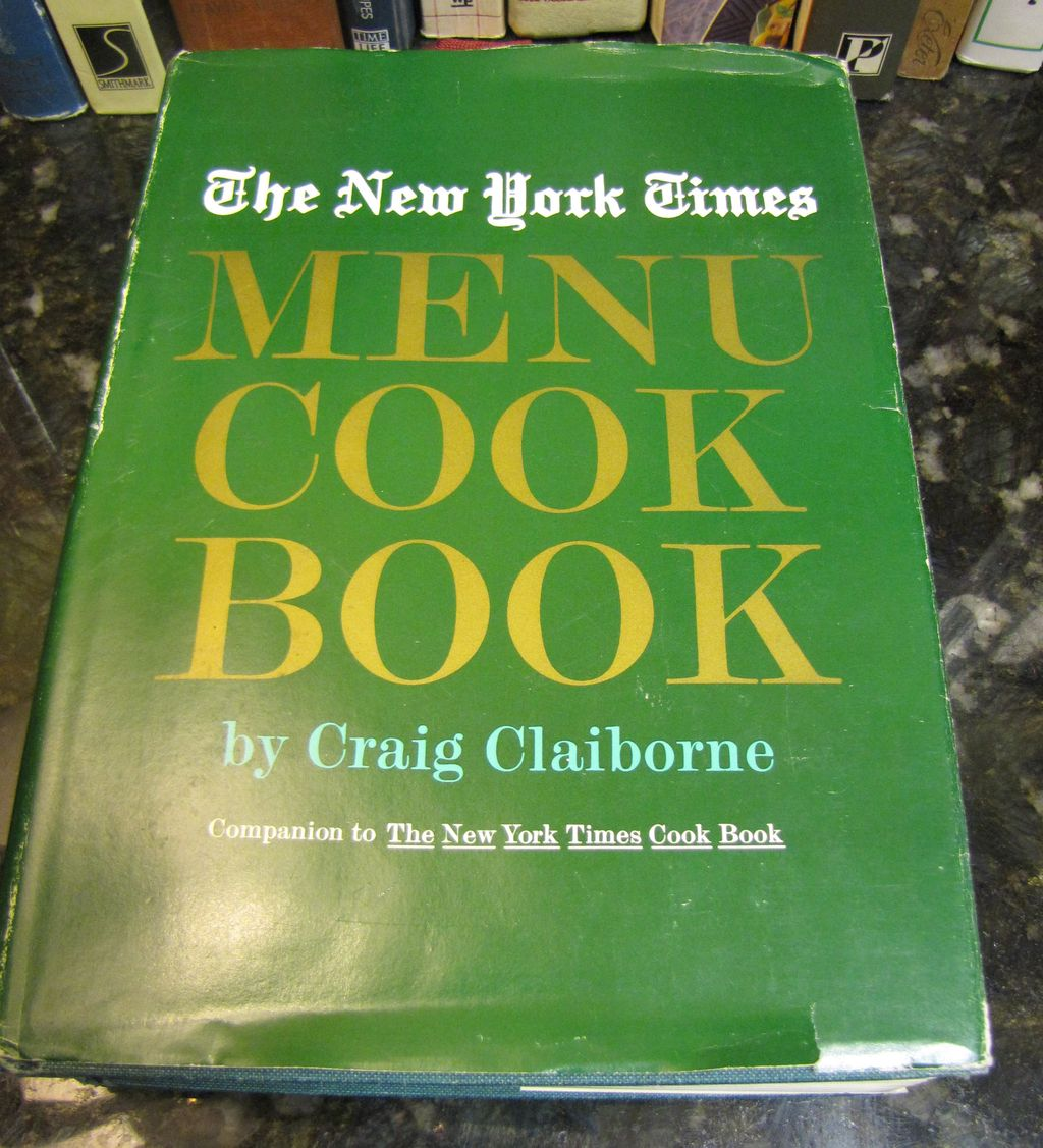 The New York Times Menu Cook Book by Craig Claiborne, 1st Ed, 1966