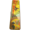 Circa 1940 Hinged Metal School Pencil Box, Mother Goose with Flying Witch