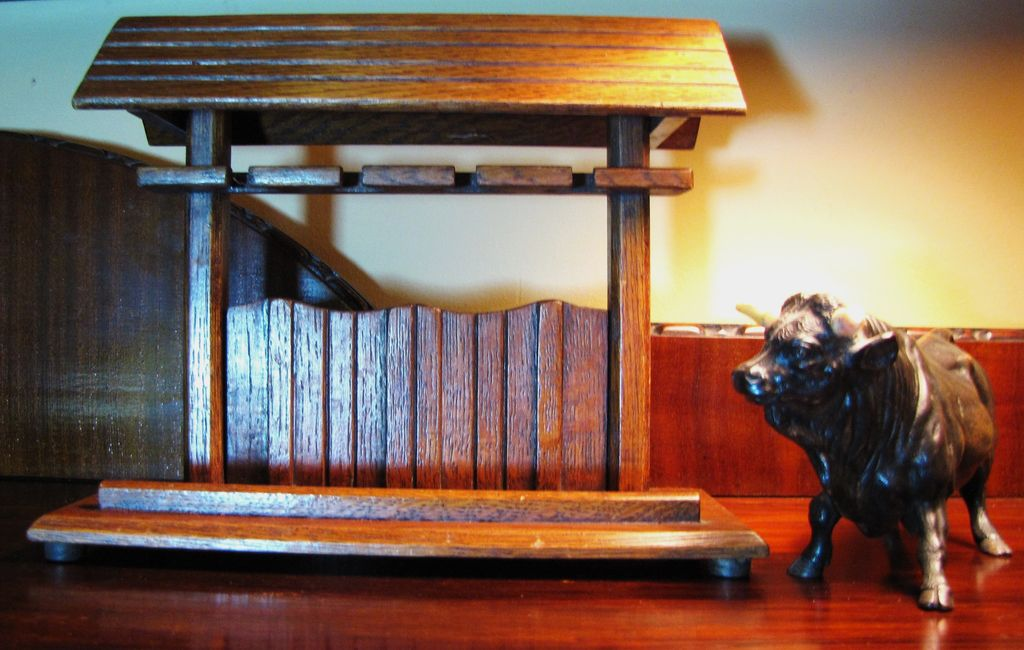 Stunning Oak &quot;Barn&quot; circa 1930's Pipe Rack, Beautifully Made