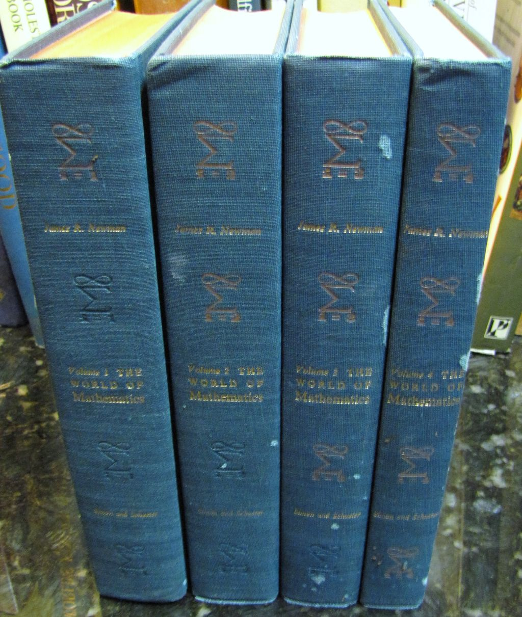 4 Volume The World of Mathematics by James R Newman HC