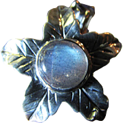 SALE Beautiful Labradorite & Iolite Sterling Silver Hand Crafted Flower Ring SZ 7
