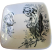 Circa 1880 Ashworth Brothers Aesthetic Black Transferware Butter Pat