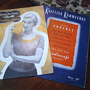 Two 1950's Knitting Magazines, General Instruction, Sweater Patterns