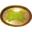 Beautiful Antique Venetian Green Opaline Glass Vanity Tray
