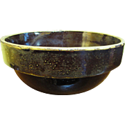 19th Century Stoneware Alkaline Glazed Bowl made in South Carolina