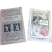"2 Antique play books ""Her Busy Day"" 1889 & ""After the Game"" 1909‏"