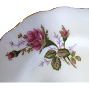 "Charming Set of Six Moss Rose Pattern 7"" Plates, Mid Century Japan"