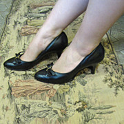 Ultra Elegant 1950's Stiletto Heeled Pumps Size 7.5