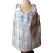 Darling Early Small Plaid Pinafore -  Hand Sticthed, Very Cute!