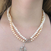 SALE Artisan Sterling, Pearl and Mother of Pearl Necklace