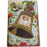 1911, Merry Xmas Embossed Post Card copyright by Florense Bamberger