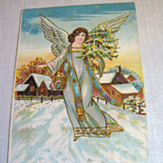 "circa 1900‏, ""A Merry Christmas"" Made in Germany serie 76 78 Embossed Post Car"