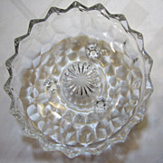 Beautiful Vintage Fostoria American Three Footed Bonbon or RelishDish