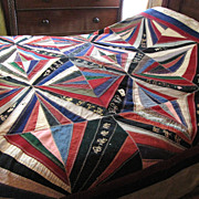 SALE Stunning Victorian Wedding Gift Quilt, 17 Signatures,on SALE