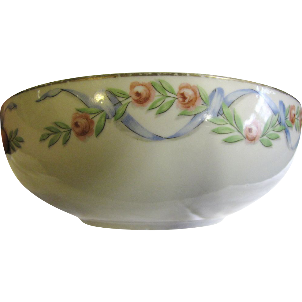 "Nice Hall's 1940's 9"" Wildfire Serving Bowl"